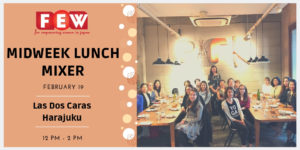 Midweek Lunch Mixer Image with past participants at a table