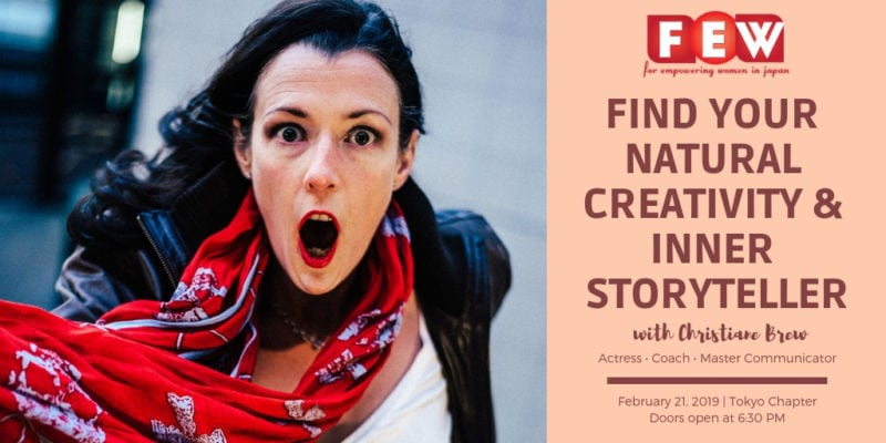 Find Your Natural Creativity & Inner Storyteller event mage with Christiane Brew headshot