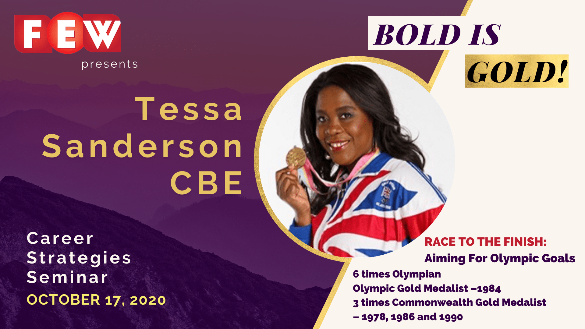 Speakers Profiles CSS 2020 Website 1280X720 Tessa Sanderson